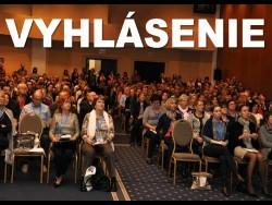 Vyhlásenie účastníkov XXXVI. Výročnej konferencie SSVPL