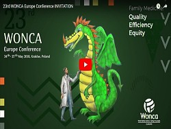 23 rd WONCA EUROPE CONFERENCE   KRAKOW 24-27 MAY 2018